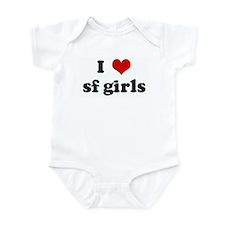 I Love sf girls Infant Bodysuit