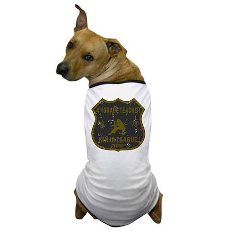 4th Grade Teacher Ninja League Dog T-Shirt
