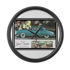 """""""1950 Studebaker Land Cruiser"""" Large Wall Clock"""