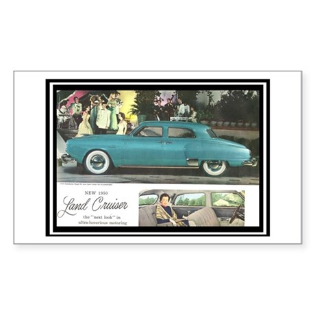 """1950 Studebaker Land Cruiser"" Sticker (Rectangle)"