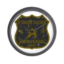 5th Grade Teacher Ninja League Wall Clock