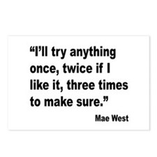 Mae West Try Anything Quote Postcards (Package of