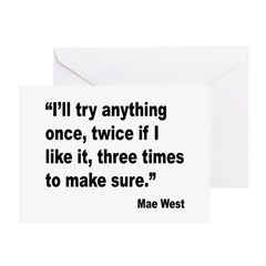 Mae West Try Anything Quote Greeting Card