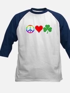 Peace Love Shamrock Irish Tee