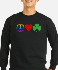 Peace Love Shamrock Irish T