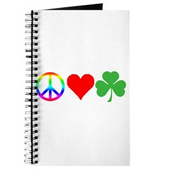 Peace Love Shamrock Irish Journal