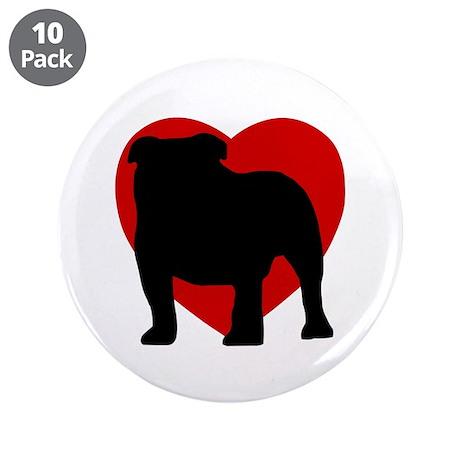 "Bulldog 3.5"" Button (10 pack)"