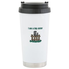 Fence Cats Big Sister Stainless Steel Travel Mug