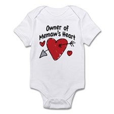 OWNER OF MEMAW'S HEART Infant Bodysuit