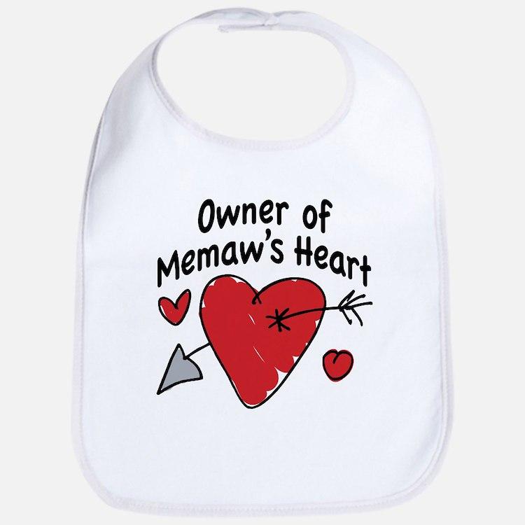 OWNER OF MEMAW'S HEART Bib