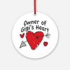 OWNER OF GIGI'S HEART Ornament (Round)