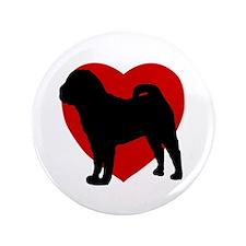 """Shar Pei Valentine's Day 3.5"""" Button"""