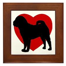 Shar Pei Valentine's Day Framed Tile
