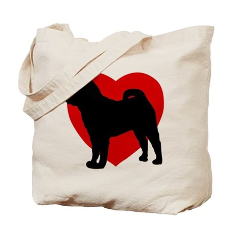 Shar Pei Valentine's Day Tote Bag