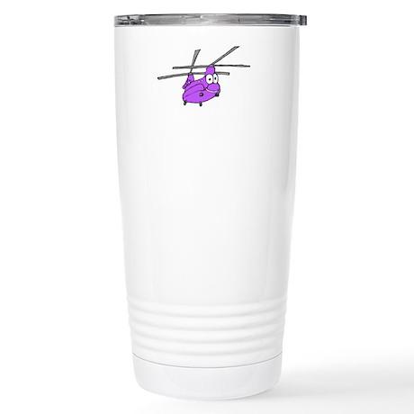 CH-47 Purple Stainless Steel Travel Mug