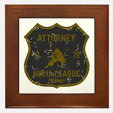 Attorney Ninja League Framed Tile