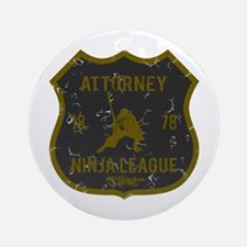 Attorney Ninja League Ornament (Round)