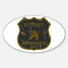 Attorney Ninja League Oval Decal