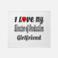 I Love My Director of Production Gir Throw Blanket
