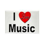 I Love Music Rectangle Magnet (10 pack)