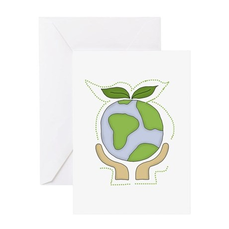 Earth in Our Hands Greeting Card