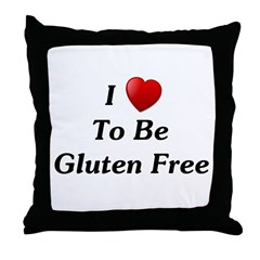 Love To Be Gluten Free Throw Pillow