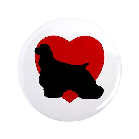 "Cocker Spaniel Valentine's Day 3.5"" Button (100 pa"
