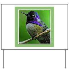 Hummingbird Yard Sign