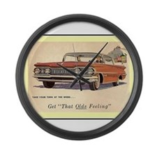 """""""1959 Oldsmobile Ad"""" Large Wall Clock"""