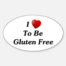 Love To Be Gluten Free Oval Decal
