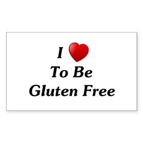 Love To Be Gluten Free Rectangle Sticker