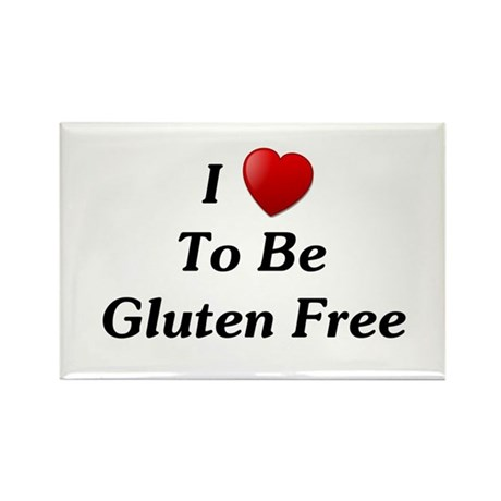 Love To Be Gluten Free Rectangle Magnet