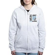 IWearLightBlue Husband Zip Hoodie