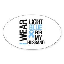 IWearLightBlue Husband Oval Decal