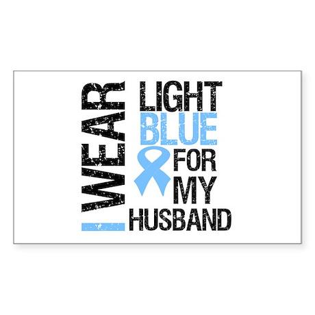 IWearLightBlue Husband Rectangle Sticker