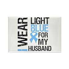 IWearLightBlue Husband Rectangle Magnet