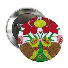 "Unique Red lotus 2.25"" Button (10 pack)"