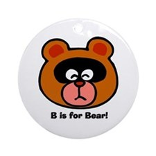 B is for Bear Ornament (Round)
