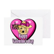 Goldendoodle Valentines Day Greeting Cards (Pk of