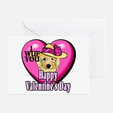 Goldendoodle Valentines Day Greeting Card