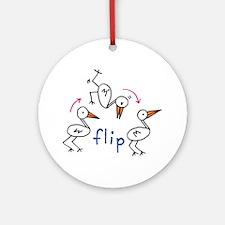 Flip Bird Ornament (Round)