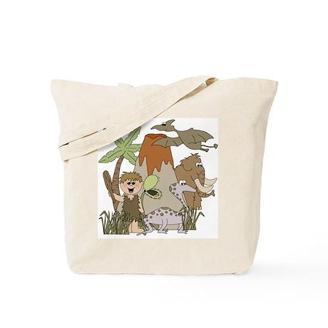 Boy Prehistoric Life Tote Bag