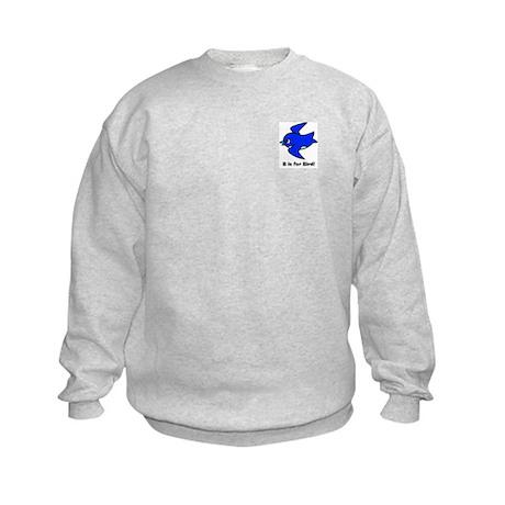 B is for Bird Kids Sweatshirt