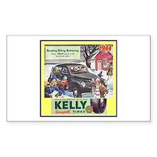 """1944 Kelly Tire Ad"" Rectangle Sticker 50 pk)"