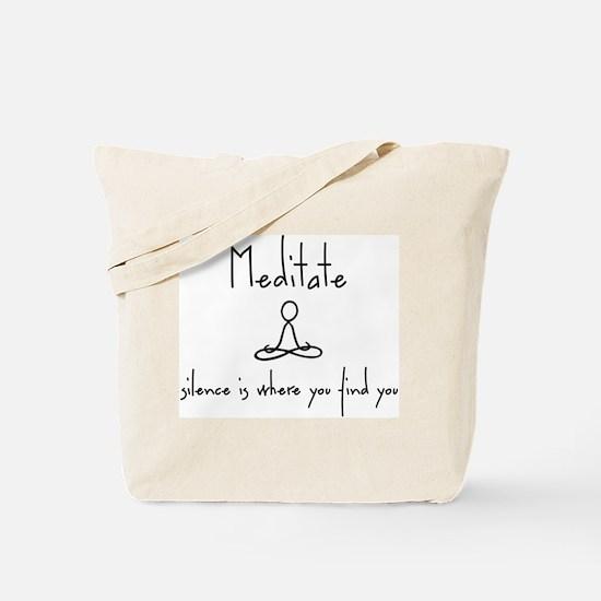 Cute Meditate Tote Bag