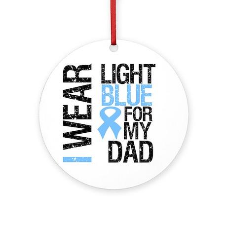 IWearLightBlue Dad Ornament (Round)