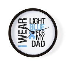 IWearLightBlue Dad Wall Clock