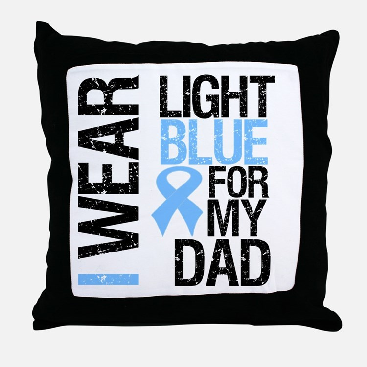 IWearLightBlue Dad Throw Pillow