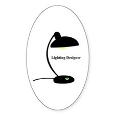 Lighting Designer 1 Oval Decal