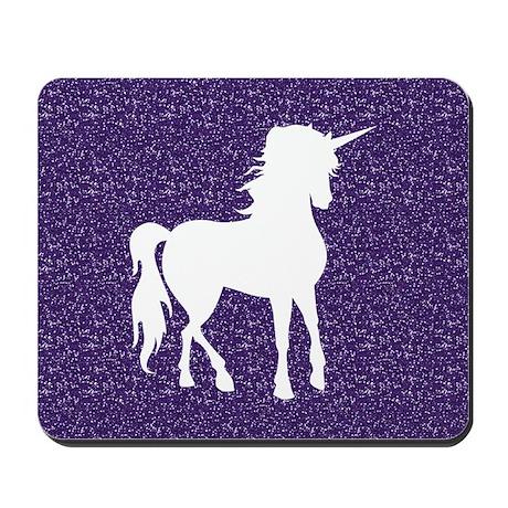Purple Unicorn Mousepad